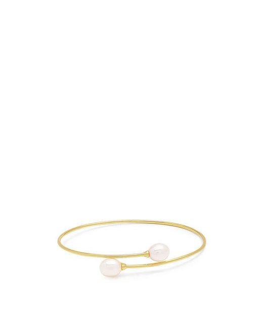 Fallon | Multicolor Rotation Double Pearl Wire Cuff | Lyst