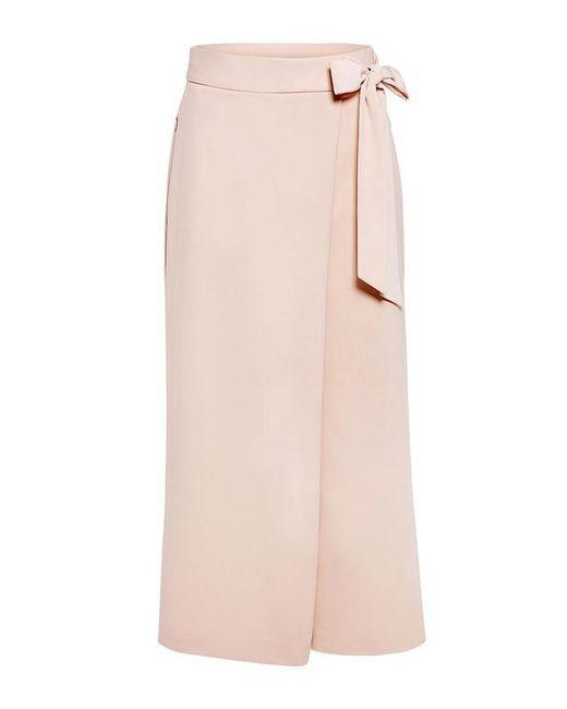 Tibi | Pink Agathe Wrap Tie Culottes | Lyst