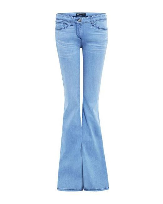 3x1 - Blue Super Low Rise Bell Jeans - Lyst