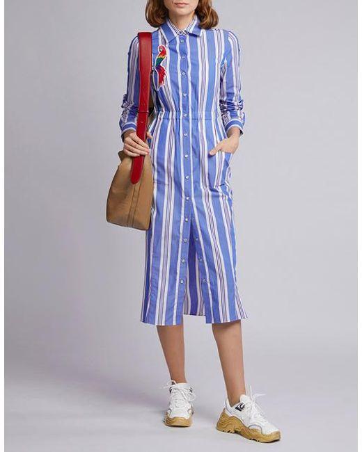 644efc9d Stella Jean Embroidered Cotton Shirt Dress in Blue - Save 4% - Lyst
