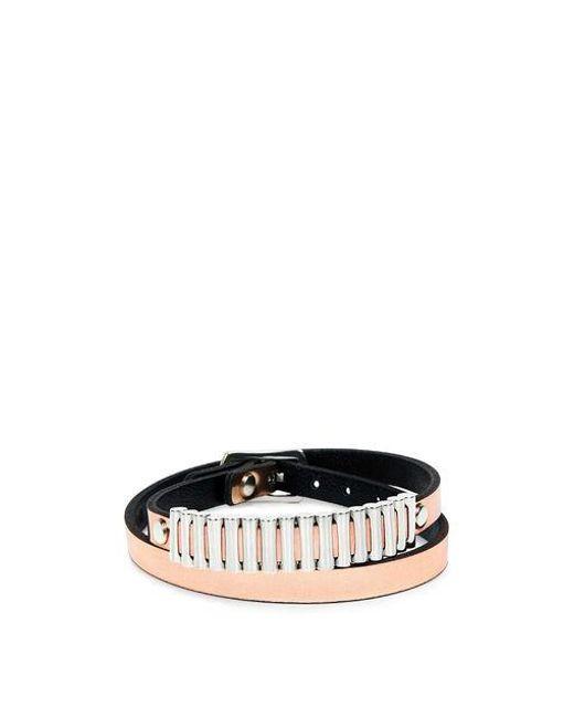 McQ Alexander McQueen - Bullets Metallic Wrap Bracelet - Lyst