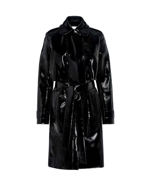 Carven   Black Patent Trench Coat   Lyst