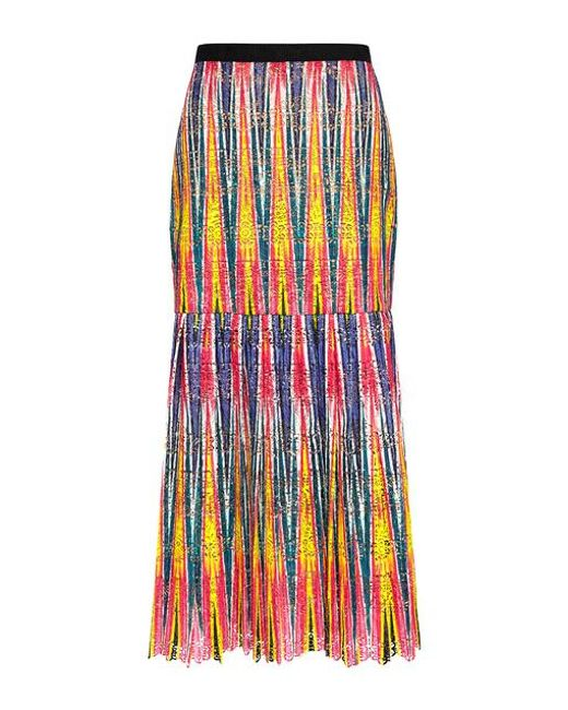 Saloni - Multicolor Diana Pleated Midi Skirt - Lyst
