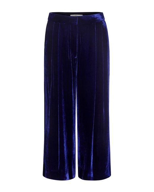 Tibi | Blue Silk Velvet Culottes | Lyst