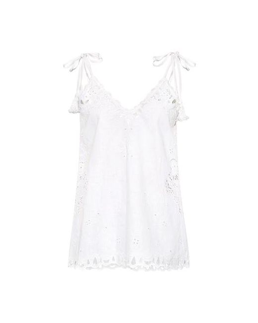 Theory - White Wiola Embroidered Eyelet Cami - Lyst
