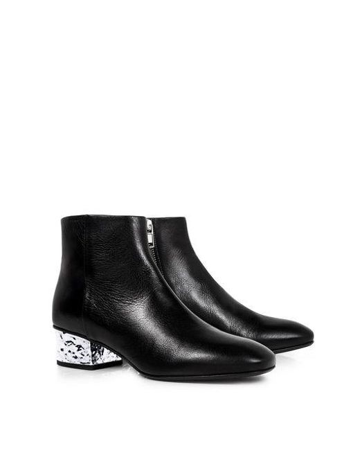 ee57b570e872 ... McQ Alexander McQueen - Black Shacklewell Foil Heel Ankle Boots - Lyst  ...