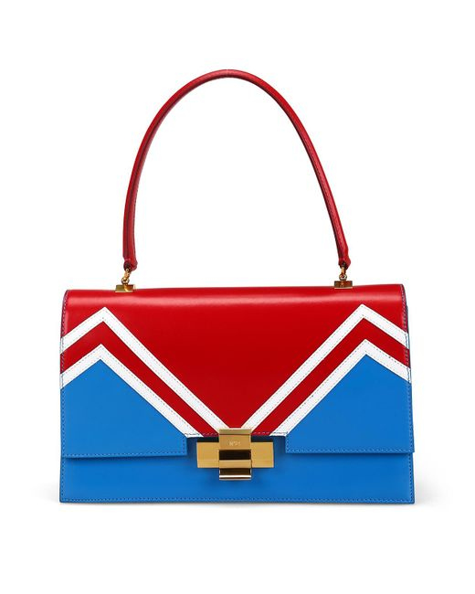 N°21 Alice Red Turquoise And White Bag