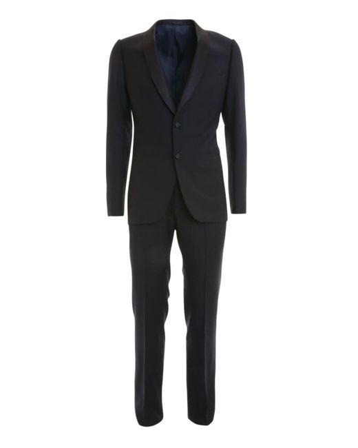 Armani Blue M-line Wool Tuxedo for men
