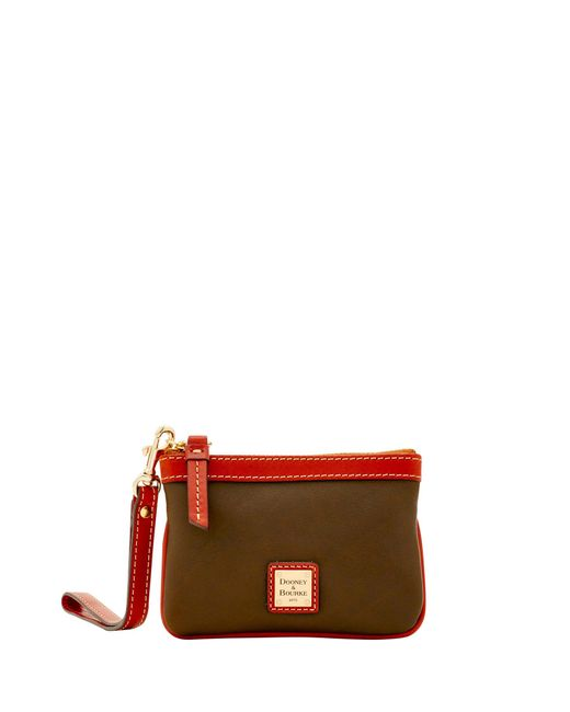 Dooney & Bourke - Red Calf Medium Wristlet - Lyst