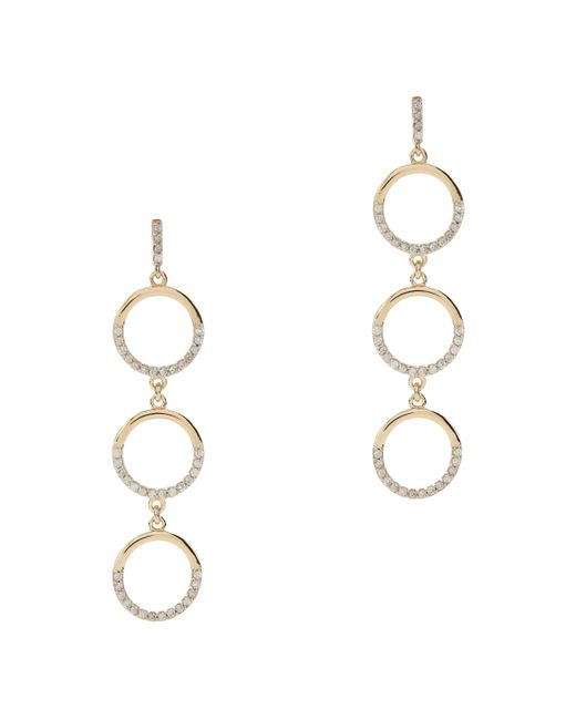 Mateo - Metallic Three Tier Circle Drop Diamond Earrings - Lyst