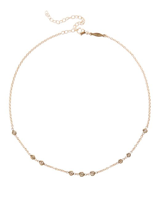 Jacquie Aiche | Metallic 1x2x3 Diamond Choker Necklace | Lyst