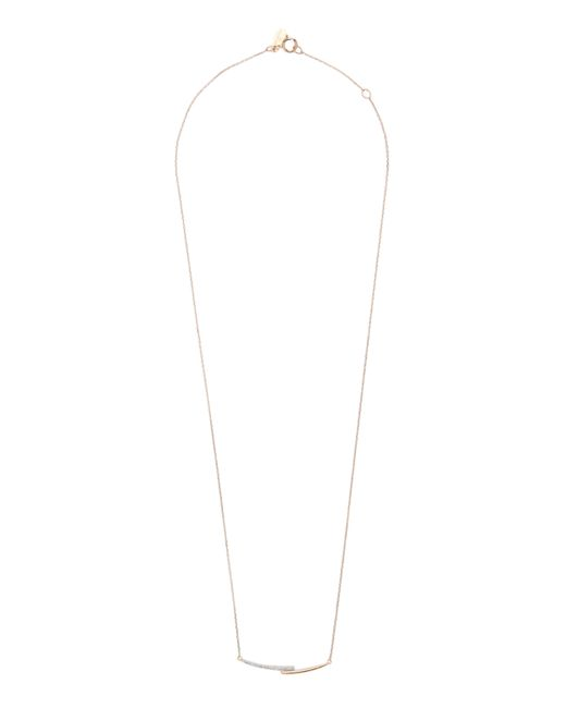 Adina Reyter - Metallic Pavé Crossover Curve Necklace - Lyst