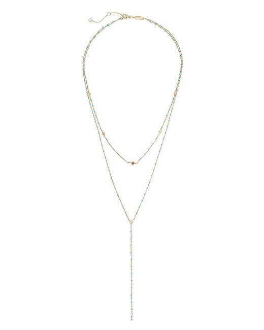 Argento Vivo - Multicolor Beaded Lariat Layering Necklace - Lyst