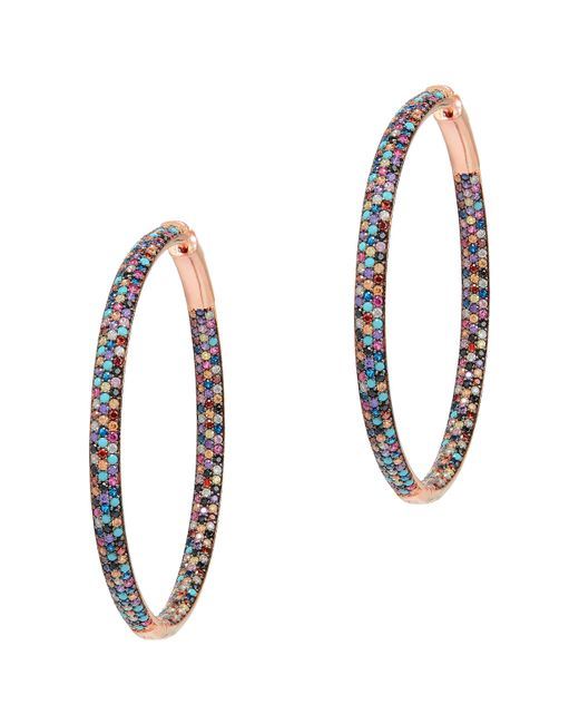 Nickho Rey | Multicolor Tire Hoop Earrings | Lyst