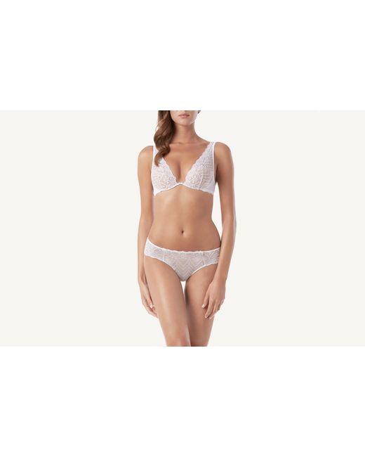 dbe2f253255dc Lyst - Intimissimi Elena Lace Balconette Bra in White - Save 11%
