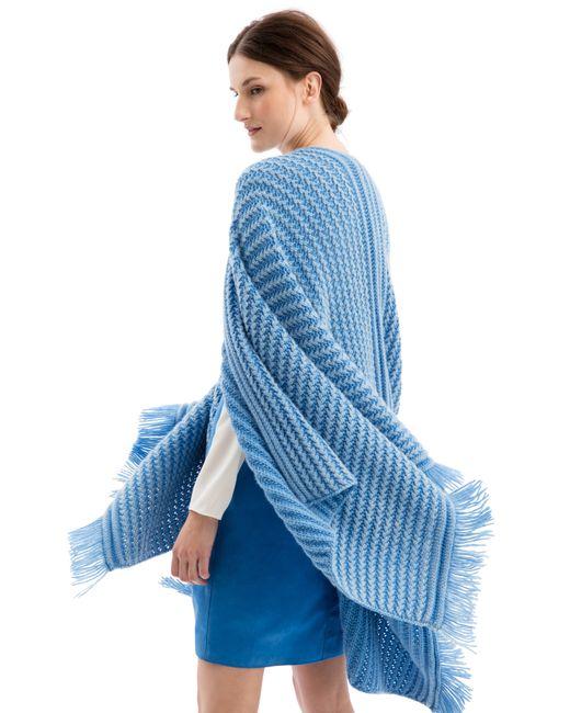 iris von arnim poncho bexley in blue lyst. Black Bedroom Furniture Sets. Home Design Ideas