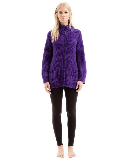 iris von arnim cardigan bakersfield in purple lyst. Black Bedroom Furniture Sets. Home Design Ideas