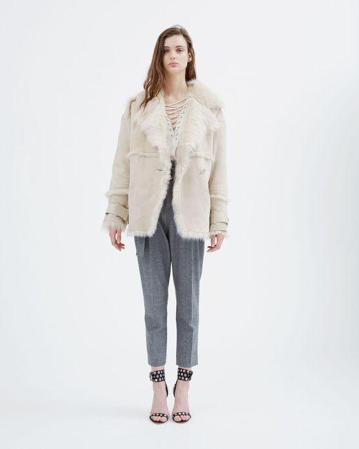 IRO | Natural Zehner Fleece Coat | Lyst