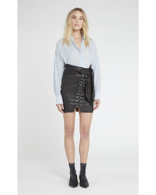 IRO | Black Tinah Leather Skirt | Lyst