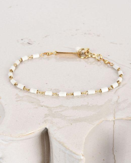 Isabel Marant | Multicolor Casablanca Enamel And Gold Tone Chain Bracelet | Lyst