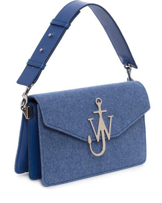 felt logo purse - Blue J.W.Anderson oX8DhvJ7jF