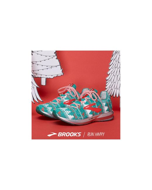 72d9958ab54 Lyst - Brooks Levitate 2 (green white red (holiday Edition)) Women s ...
