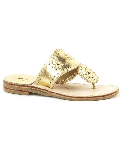 Jack Rogers - Metallic Girls' Miss Hamptons Sandal - Lyst