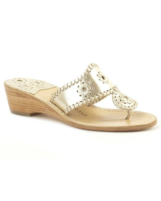 Jack Rogers - Natural Hamptons Mid Wedge - Lyst