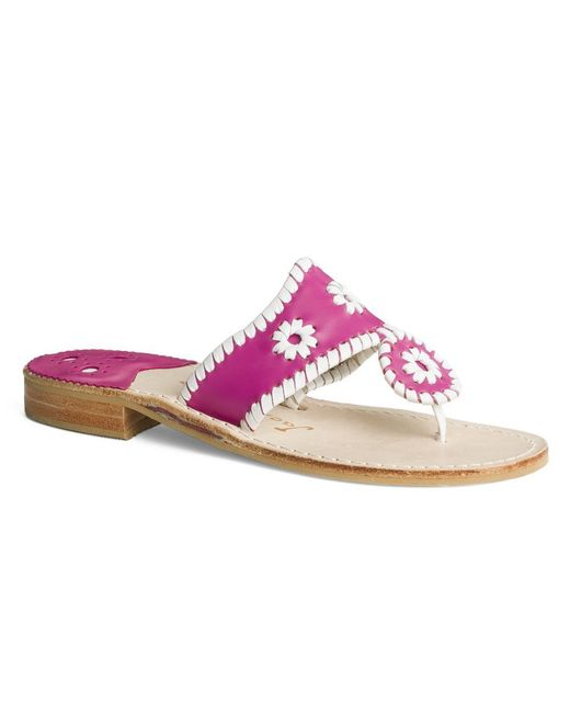 2c896ce687ae96 Lyst - Jack Rogers Wide Palm Beach Sandal in Pink