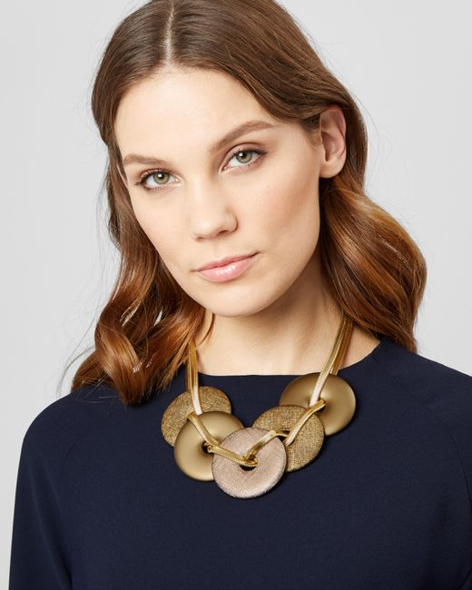 Jaeger - Metallic Divina Disc Statement Necklace - Lyst