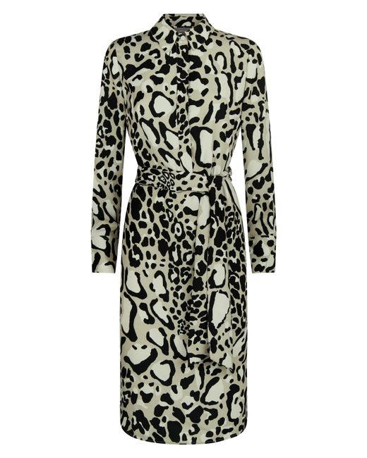 ... Jaeger - Multicolor Leopard Print Dress - Lyst ... 2e62158cb