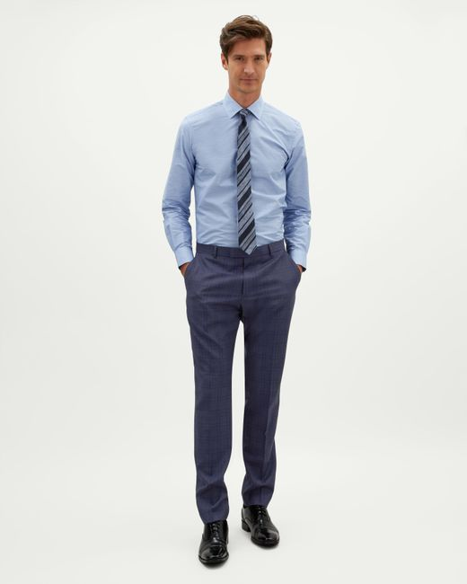 Jaeger - Blue Slim Shadow Windowpane Check Trouser for Men - Lyst