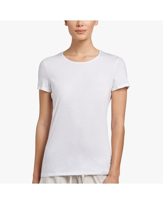 James Perse - White Luxe Lotus Jersey Tee - Lyst