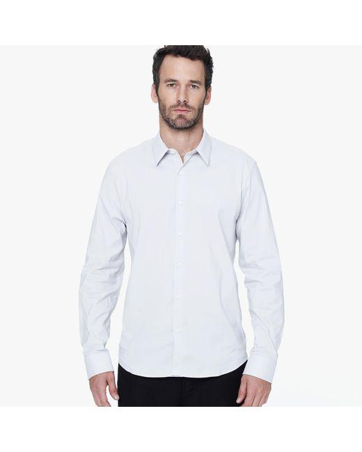 James Perse | Metallic Matte Stretch Poplin Dress Shirt for Men | Lyst