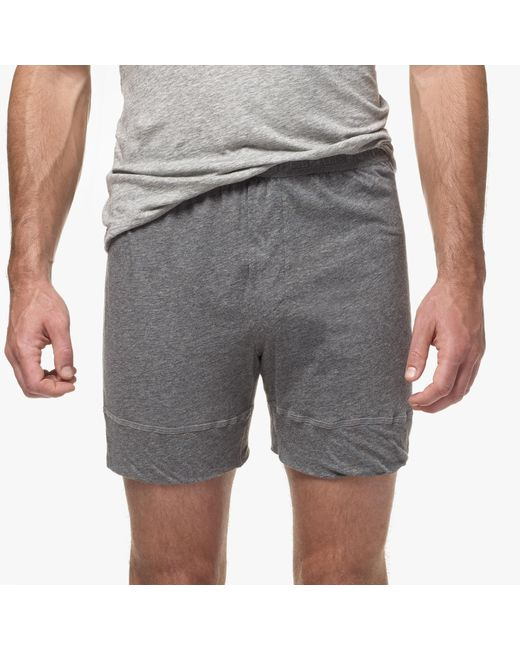 James Perse | Gray Melange Jersey Boxer Short for Men | Lyst