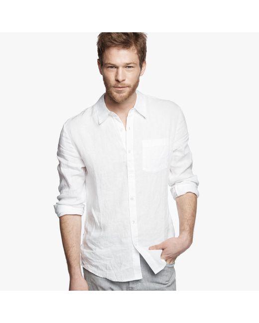 James Perse | White Canvas Linen Shirt for Men | Lyst