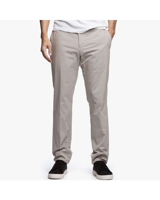 James Perse | Gray Micro Twill Tailored Pant for Men | Lyst