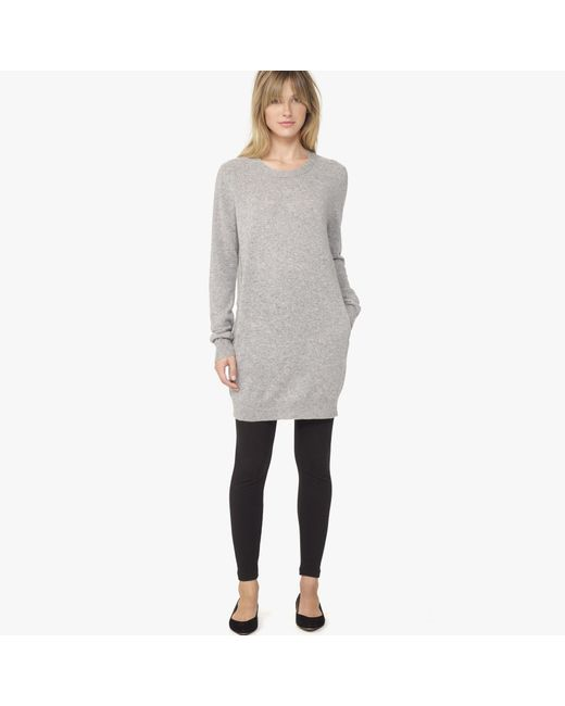 James Perse | Gray Cashmere Tunic Dress | Lyst