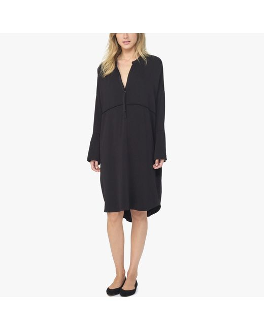 James Perse | Black Stretch Crepe Tunic Dress | Lyst