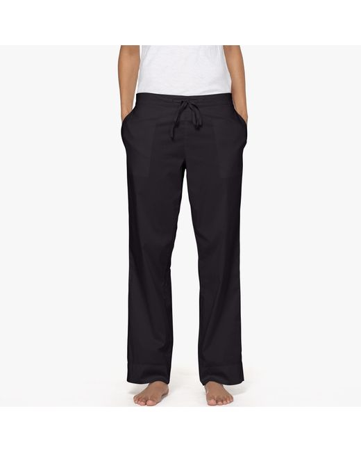 James Perse | Black Laundered Cotton Pajama Pant | Lyst