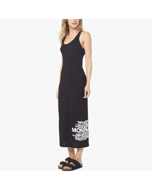 James Perse | Black Long Island Beaches Graphic Dress | Lyst