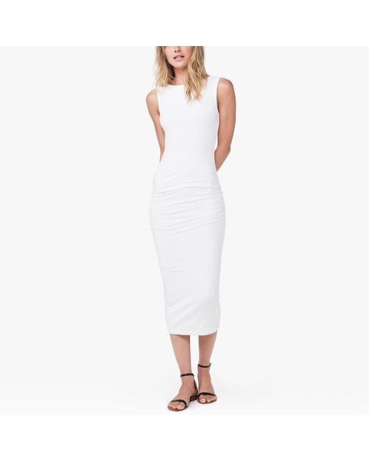 James Perse - White Open Back Skinny Dress - Lyst