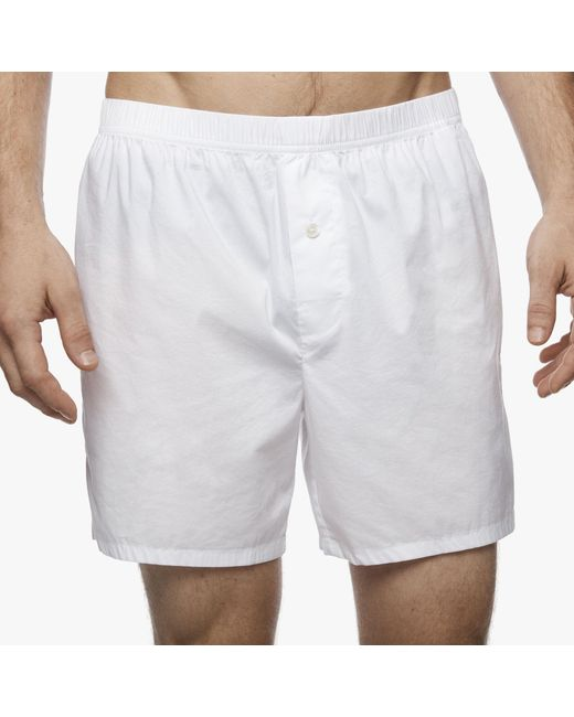 James Perse - White Laundered Cotton Boxer for Men - Lyst