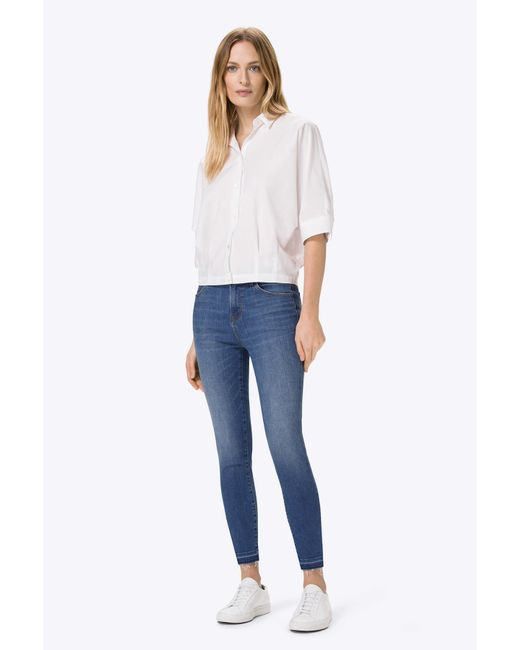 J Brand | Blue Alana High-rise Crop In Angelic | Lyst