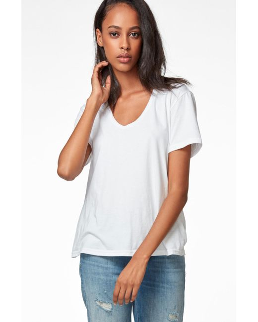 J Brand - Johnny Short Sleeve Tee In White - Lyst