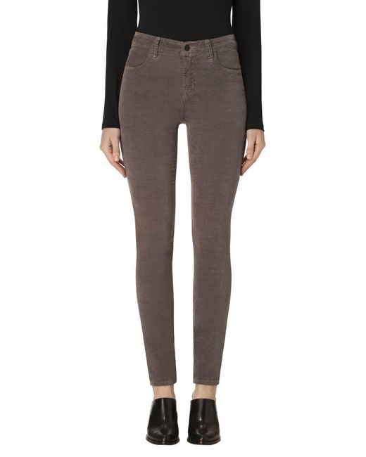 J Brand | Multicolor Maria High-rise Super Skinny In Velvet Dark Filly | Lyst