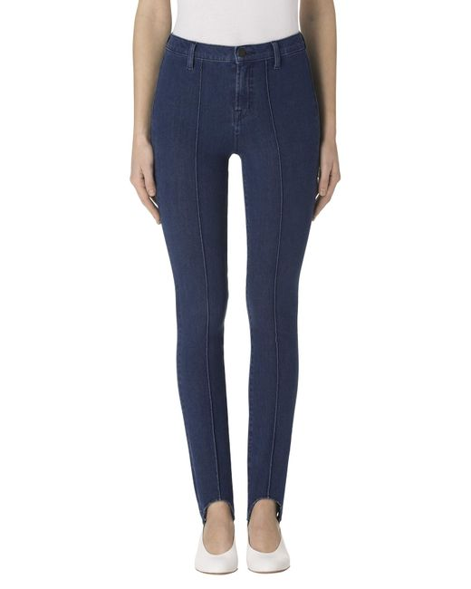 J Brand | Blue Maria High-rise Stirrup In Modest | Lyst