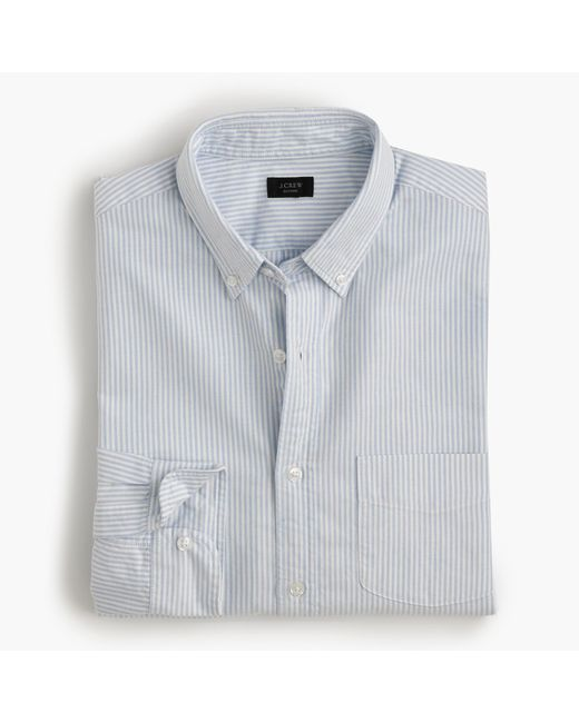 J.Crew | Blue Slim Vintage Oxford Shirt In Sun-faded Stripe for Men | Lyst