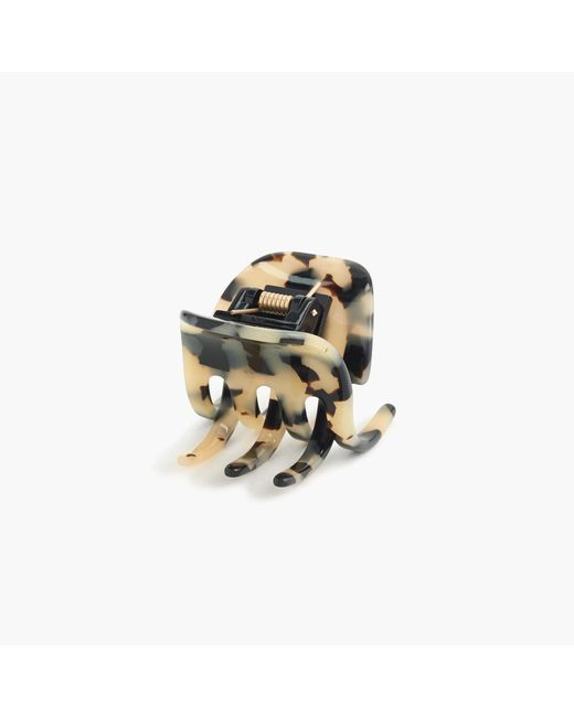 J.Crew - Metallic Classic Hair Clip In Italian Tortoise - Lyst