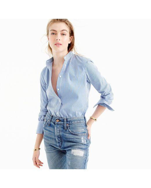 J.Crew | Blue Perfect Bodysuit In Stripe | Lyst